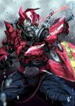another_drive kamen_rider kamen_rider_drive_(series) kamen_rider_zi-o_(series) monster red_eyes shinpei_(paypay) skull solo