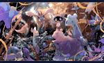 awai_(pixiv29777040) corsola dhelmise dragonair dragonite gyarados jellicent king's_rock kingdra lapras lightning lugia ocean pokemon pokemon_(creature) remoraid sea shellder ship shipwreck slowpoke starmie staryu storm storm_cloud tentacool tentacruel