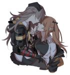 2girls brown_hair closed_eyes girls_frontline imminent_kiss incest jacket jacket_removed maiqtells mechanical_arm mod3_(girls_frontline) multiple_girls siblings sisters twins twintails ump45_(girls_frontline) ump9_(girls_frontline) yuri