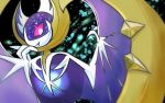 asu91799492 bat bat_wings fang lunala no_humans pokemon pokemon_(creature) pokemon_(game) pokemon_sm red_sclera white_pupils