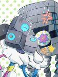 anger_vein asu91799492 blacephalon blocks blue_eyes brick_wall closed_eyes head_removed head_swap no_humans pokemon pokemon_(creature) pokemon_(game) pokemon_ultra_sm pokemon_usum stakataka star ultra_beast