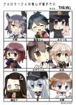6+girls :d akitsu_maru_(kantai_collection) anchor_symbol artist_name bare_shoulders bit_gag black_gloves black_hair black_jacket blue_eyes blue_hair blue_jacket brown_eyes brown_hair checkered checkered_neckwear chibi commentary commentary_request cup detached_sleeves eyebrows_visible_through_hair eyepatch facing_viewer flat_cap flipped_hair forehead gag gloves gradient_hair green_eyes grey_sailor_collar hair_flaps hair_ribbon hairband hat headgear hibiki_(kantai_collection) hiei_(kantai_collection) highres holding holding_cup houshou_(kantai_collection) jacket japanese_clothes kaga_(kantai_collection) kamado_nezuko kantai_collection kimetsu_no_yaiba kimono long_hair looking_at_viewer military military_uniform mouth_hold multicolored_hair multiple_girls musical_note mutsuki_(kantai_collection) neck_ribbon neckerchief necktie nontraditional_miko open_mouth partly_fingerless_gloves peaked_cap pink_eyes pink_hair pink_kimono pink_ribbon ponytail purple_hair red_neckwear red_ribbon redhead remodel_(kantai_collection) ribbon sailor_collar sash school_uniform serafuku short_hair silver_hair smile taisa_(kari) tasuki tenryuu_(kantai_collection) translation_request twitter_username uniform very_long_hair yellow_eyes yunomi yura_(kantai_collection)