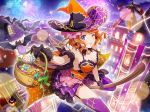 dress ebisu_tsukasa halloween hat orange_hair short_hair shoujo_kageki_revue_starlight smile violet_eyes wink