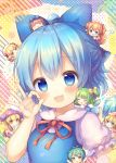6+girls :d :o ^_^ ahoge aqua_hair bangs beret blonde_hair blue_bow blue_dress blue_eyes blue_hair blush bow breasts brown_eyes brown_hair chibi cirno closed_eyes clownpiece collared_shirt commentary_request daiyousei diagonal_stripes dress eternity_larva eyebrows_visible_through_hair fairy_wings hair_between_eyes hair_bow hat ice ice_wings jester_cap leaf leaf_on_head lily_white long_hair luna_child minigirl multiple_girls neck_ribbon one_side_up open_mouth parted_lips pjrmhm_coa polka_dot puffy_short_sleeves puffy_sleeves purple_headwear red_bow red_dress red_ribbon ribbon shirt short_sleeves sleeveless sleeveless_dress small_breasts smile star_sapphire striped sunny_milk touhou transparent_wings two_side_up upper_body very_long_hair white_dress white_headwear white_shirt wings yellow_bow