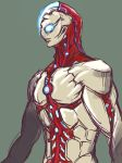 1boy alien blue_eyes character_request commentary creature glowing glowing_eyes highres kuroda_asaki male_focus redesign shin_ultraman solo tagme translation_request ultra_series ultraman ultraman_(1st_series)