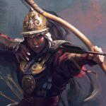 archery armor arrow black_eyes black_hair breastplate gauntlets helmet holding holding_weapon vivecthegod weapon