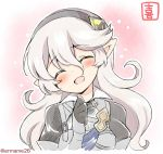 1girl armor closed_eyes corrin_(fire_emblem) corrin_(fire_emblem)_(female) cute dragon_girl elf eromame female_my_unit_(fire_emblem_if) fire_emblem fire_emblem_fates fire_emblem_if intelligent_systems kamui_(fire_emblem) long_hair moe my_unit_(fire_emblem_if) nintendo open_mouth pointy_ears solo super_smash_bros. twitter_username upper_body white_hair