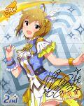 brown_hair dress ibuki_tsubasa idolmaster_million_live!_theater_days pink_eyes short_hair smile
