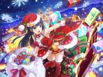 christmas dress long_hair purple_hair shoujo_kageki_revue_starlight tsuyuzaki_mahiru violet_eyes
