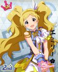 blonde_hair character_name dress emily_stuart idolmaster_million_live!_theater_days long_hair smile twintails violet_eyes