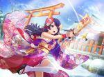 bandage long_hair purple_hair shoujo_kageki_revue_starlight tomoe_tamao violet_eyes yukata
