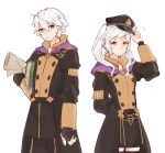 1boy 1girl 1other blush book brother_and_sister dual_persona female_my_unit_(fire_emblem:_kakusei) fire_emblem fire_emblem:_fuukasetsugetsu fire_emblem:_kakusei fire_emblem:_three_houses fire_emblem_awakening gloves hat hood intelligent_systems kona_(rabbitrabbit2037) long_hair looking_at_viewer male_my_unit_(fire_emblem:_kakusei) my_unit_(fire_emblem:_kakusei) nintendo reflet robin_(fire_emblem) robin_(fire_emblem)_(female) robin_(fire_emblem)_(male) school_uniform short_hair siblings silver_hair simple_background skirt super_smash_bros. twintails uniform white_hair yellow_eyes