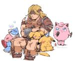 1boy 3others akiyoku angry animal armor baby_pokemon balloon_(pokemon) belt blonde_hair blue_eyes blush blush_stickers brown_hair bubble cape castlevania cat_ears collarbone creatures_(company) game_freak gen_1_pokemon gen_2_pokemon gloves hal_laboratory_inc. hat headband highres hoshi_no_kirby human jigglypuff kirby kirby_(series) konami long_hair male_focus marker microphone mouse muscle nintendo olm_digital party_hat pichu pikachu pillow pink_puff_ball pokemon pokemon_(anime) pokemon_(creature) pokemon_(game) pokemon_frlg pokemon_gsc pokemon_hgss pokemon_rgby short_hair simon_belmondo sleeping sora_(company) super_smash_bros. tail tears weapon