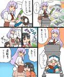4girls houraisan_kaguya inaba_tewi koyama_shigeru multiple_girls touhou translation_request yagokoro_eirin