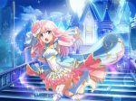 blue_eyes dress long_hair nonomiya_lalafin pink_hair shoujo_kageki_revue_starlight smile