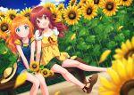 ayumi_(as0206) flower highres idolmaster idolmaster_shiny_colors komiya_kaho sunflower takatsuki_yayoi
