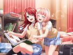 bang_dream! blue_eyes blush dress long_hair redhead smile udagawa_tomoe