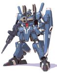 beam_rifle commentary_request energy_gun full_body gundam gundam_mk_v gundam_sentinel mamecchi mecha no_humans shield simple_background solo standing weapon white_background