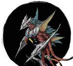 gamera_(series) irys_(gamera) monster rokuta66 solo traditional_media watercolor_(medium)