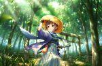 blush idolmaster_cinderella_girls_starlight_stage purple_hair short_hair smile traditional_dress violet_eyes wakiyama_tamami