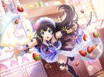 black_hair dress headdress kagura_hikari long_hair shoujo_kageki_revue_starlight valentine violet_eyes