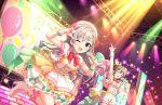 blue_eyes blush dress grey_hair group hisakawa_hayate idolmaster_cinderella_girls_starlight_stage long_hair smile wink