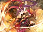 dress liu_mei_fan1girl long_hair ponytail purple_hair violet_eyes warrior