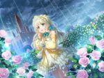 blonde_hair dress green_eyes headdress long_hair shoujo_kageki_revue_starlight yumeouji_shiori