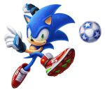 1boy 3d animal ball furry gloves green_eyes grin hedgehog kicking looking_at_viewer mario_and_sonic_at_the_olympic_games no_humans sega shoes smile sneakers soccer soccer_ball sonic sonic_the_hedgehog source_request super_smash_bros. sweat
