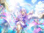 blue_eyes dress long_hair otonashi_ichie shoujo_kageki_revue_starlight silver_hair smile wings