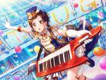 bang_dream! blush brown_eyes brown_hair dress hazawa_tsugumi short_hair smile