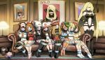 6+girls arms_behind_back astolfo_(fate) ball_gag bangs bare_shoulders baseball_cap bdsm beanie black_gloves black_legwear black_vest blindfold blonde_hair blue_eyes blue_ribbon blunt_bangs blush bob_cut bondage boots bound bound_arms bound_legs braid breast_bondage breasts brown_hair carpet closed_mouth collar collarbone collared_dress commentary couch curly_hair dark_skin denim denim_shorts desk_lamp double_bun drawer dress elbow_gloves eudetenis eyewear_on_head female_protagonist_(pokemon_swsh) flat_chest flower french_braid fur_trim fuuro_(pokemon) gag gagged gloves green_eyes green_hair green_headwear grey_eyes hair_between_eyes hair_bun hair_ornament hair_over_one_eye haruka_(pokemon) hat high_ponytail highres hikari_(pokemon) holding_whip hood hooded_sweater improvised_gag indoors lamp large_breasts legs_together leotard lillie_(pokemon) long_hair lusamine_(pokemon) mao_(pokemon) medium_breasts mei_(pokemon) mizuki_(pokemon) multiple_girls navel_cutout one_eye_closed pantyhose picture_frame pink_skirt pleated_skirt pokemon red_headwear redhead ribbon rope saliva serena_(pokemon) shibari shirona_(pokemon) shirt short_hair shorts sidelocks sitting skirt sleeveless sleeveless_dress sleeveless_duster sleeveless_shirt small_breasts smile socks sunglasses sweater swept_bangs tam_o'_shanter tank_top tape tape_bondage tape_gag thigh-highs thigh_boots tied_shirt touko_(pokemon) twintails very_long_hair vest visor_cap whip white_dress white_headwear white_legwear white_shirt yellow_shirt