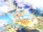 blonde_hair blue_eyes dress long_hair shoujo_kageki_revue_starlight smile wings yumeoji_fumi