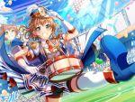 bang_dream! blue_eyes blush brown_hair dress drums glasses short_hair smile yamato_maya