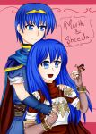 1boy 1girl animal blue_eyes blue_hair bug butterfly caeda_(fire_emblem) cape couple cute deviantart elbow_gloves english_commentary fire_emblem fire_emblem:_monshou_no_nazo fire_emblem:_shin_ankoku_ryuu_to_hikari_no_tsurugi fire_emblem_mystery_of_the_emblem fire_emblem_shadow_dragon gloves hug human husband_and_wife intelligent_systems levenark long_hair love marth marth_(fire_emblem) nintendo pegasus_knight prince sheeda short_hair tiara