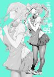 apron go-toubun_no_hanayome headphones headphones_around_neck miniskirt mushi024 nakano_miku pantyhose pleated_skirt ponytail short_sleeves skirt spatula