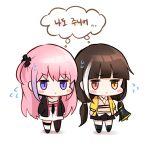 chibi girls_frontline highres honyang korean ro635_(girls_frontline) st_ar-15_(girls_frontline) tagme translation_request
