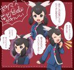1girl blue_eyes blue_hair gym_leader hair_bun hair_ribbon iruzu_(pixiv27236115) pokemon_masters ponytail ran_(pokemon) ribbon