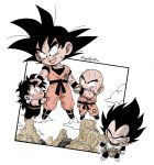 + 4boys :d armor arms_at_sides bald black_eyes black_hair boots chibi clothes_grab clothes_writing clouds cloudy_sky commentary_request dougi dragon_ball dragon_ball_z excited expressionless father_and_son fenyon floating flying_sweatdrops frown full_body gloves hand_on_another's_head happy holding_hands kuririn looking_at_another looking_down looking_up male_focus mountain multiple_boys nature open_mouth outdoors petting shaded_face sky smile son_gohan son_gokuu spiky_hair sweat sweatdrop tired torn_clothes twitter_username vegeta white_gloves wristband