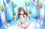 blush dress grey_eyes grey_hair idolmaster_cinderella_girls_starlight_stage long_hair mizumoto_yukari smile