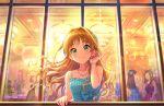 akane_hino_(idolmaster) blonde_hair blush dress green_eyes idolmaster_cinderella_girls_starlight_stage long_hair smile
