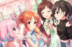 abe_nana blush brown_eyes dress idolmaster_cinderella_girls_starlight_stage long_hair orange_hair smile