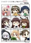 6+girls :d ;) ahoge akagi_(kantai_collection) amagi_(azur_lane) animal_ears ayanami_(kantai_collection) azur_lane bangs blonde_hair blue_eyes blue_hair blunt_bangs blush book brown_eyes brown_hair cape chibi cleveland_(azur_lane) closed_eyes cup eating eyebrows_visible_through_hair finger_to_mouth flower food fox_ears glowing glowing_eyes hair_flower hair_ornament hair_ribbon headband highres hiryuu_(kantai_collection) holding holding_book holding_cup holding_food hood hoodie japanese_clothes kantai_collection long_hair looking_at_viewer multiple_girls multiple_persona one_eye_closed one_side_up open_mouth re-class_battleship red_eyes remodel_(kantai_collection) ribbon ro-500_(kantai_collection) school_swimsuit school_uniform serafuku shinkaisei-kan short_hair side_ponytail smile souryuu_(kantai_collection) swimsuit taisa_(kari) tasuki twintails violet_eyes white_cape white_hair white_ribbon yunomi