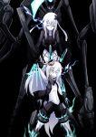 crossed_out dark_persona glowing glowing_eyes highres kantai_collection ogawa_shou pale_skin scythe skeleton smile u-511_(kantai_collection) uzuki_(kantai_collection) white_hair yellow_eyes