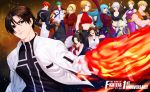 6+boys 6+girls angel_(kof) anniversary ash_crimson black_hair blue_mary brown_hair character_request fatal_fury fingerless_gloves fire gloves green_hair jacket juu_satoshi k' king_(snk) kula_diamond kusanagi_kyou multiple_boys multiple_girls redhead ryou_sakazaki ryuuko_no_ken shiranui_mai shun'ei snk terry_bogard the_king_of_fighters turtleneck yagami_iori yuri_sakazaki