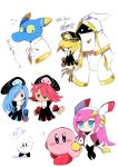 2boys 3girls blonde_hair blue_hair blue_skin flamberge_(kirby) francisca_(kirby) hyness kirby kirby:_star_allies multiple_boys multiple_girls pink_hair pink_skin redhead susie_(kirby) suzuyuki_cafe zan_partizanne