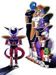 6+boys absurdres alien armor arms_behind_back blue_skin boots brown_hair burter captain_ginyu closed_eyes collarbone commentary_request dragon_ball dragon_ball_z frieza ginyu_force green_skin guldo height_difference highres jeice lineup long_hair multiple_boys muscle pink_skin purple_skin recoome red_eyes red_skin scouter serious shadow shinomiya_akino simple_background skin_tight spikes tail veins white_background white_hair