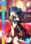 blue_hair blush character_name dress long_hair love_live!_school_idol_festival love_live!_sunshine!! pink_eyes smile tsushima_yoshiko twintails