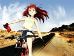bicycle desert neon_genesis_evangelion souryuu_asuka_langley tagme
