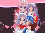 hiiragi_kagami hiiragi_tsukasa izumi_konata lucky_star takara_miyuki valentine